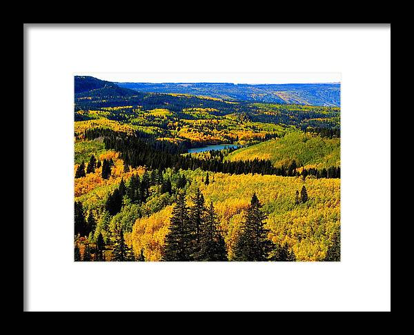 Grand Junction Framed Print featuring the photograph lake on Grand Mesa by Gerald Blaine