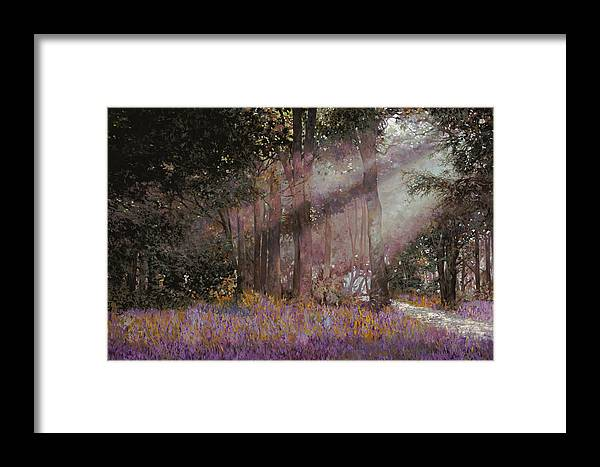 Wood Framed Print featuring the painting Luci by Guido Borelli