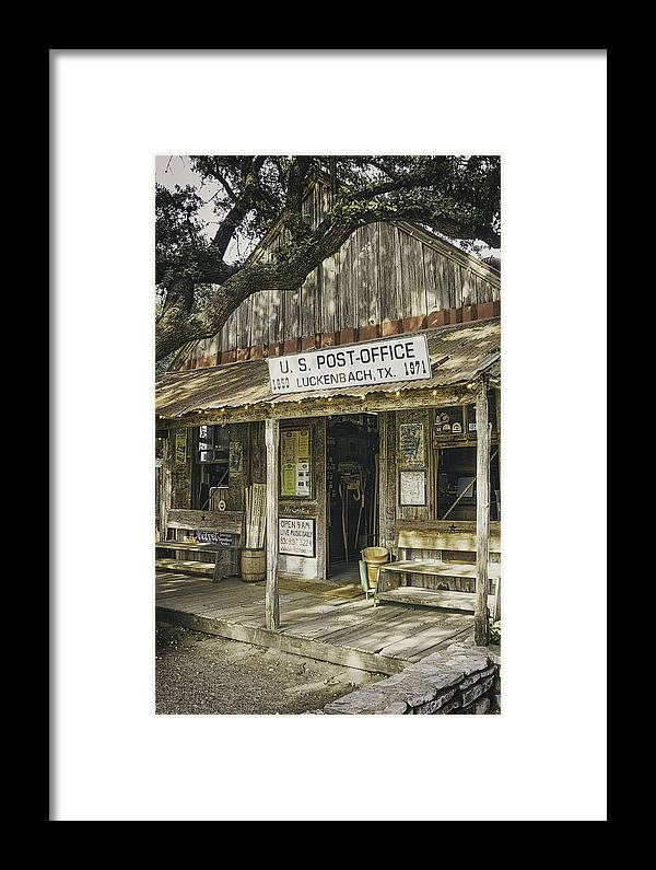 Luckenbach Framed Print featuring the photograph Luckenbach by Scott Norris