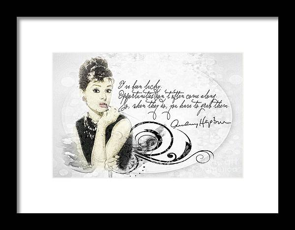 Lucky Framed Print featuring the mixed media Lucky by Mo T