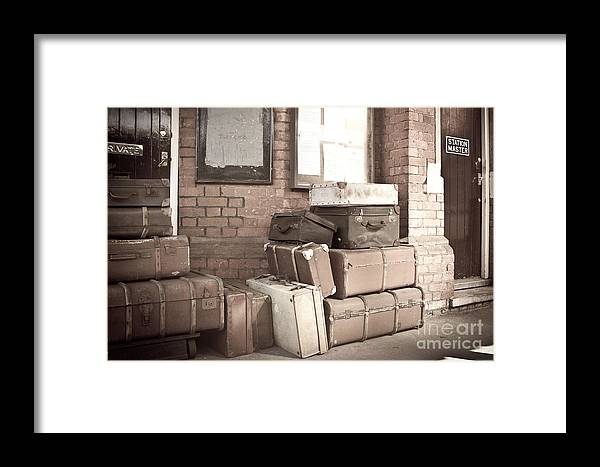 Energy Framed Print featuring the digital art Luggage Cases by Paul Stevens