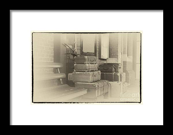 Historical Framed Print featuring the digital art Luggage by Paul Stevens