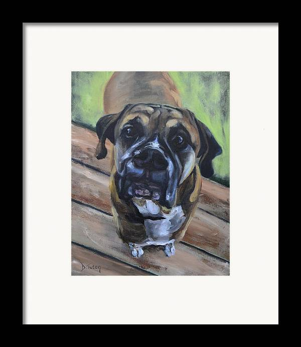 Boxer Framed Print featuring the painting Lugnut by Donna Tuten