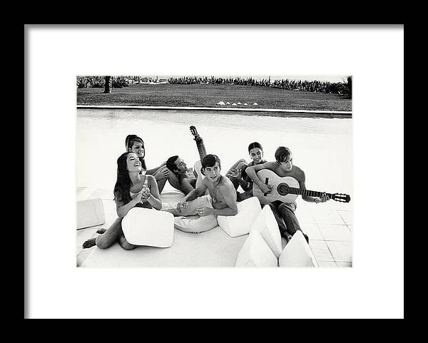 Mirabella Framed Print featuring the photograph Luis And Alvaro Figuerro Hanging Out With Friends by Henry Clarke