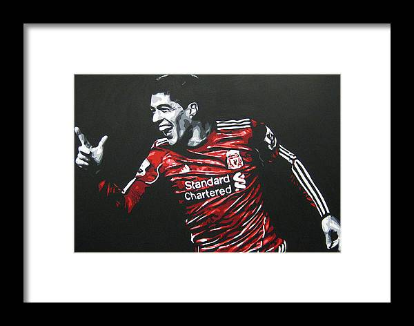 Luis Suarez Framed Print featuring the painting Luis Suarez - Liverpool Fc 2 by Geo Thomson