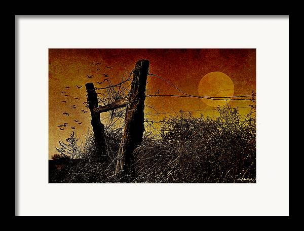Digital Art Framed Print featuring the photograph Luna De Sangre by Karen Slagle