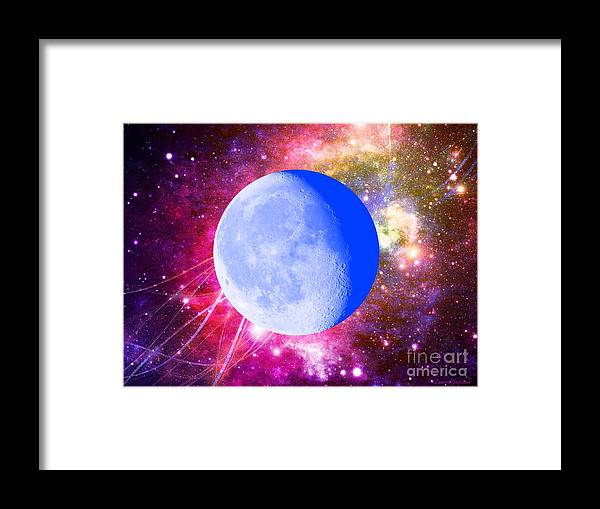Moon Framed Print featuring the mixed media Lunar Magic by Leanne Seymour