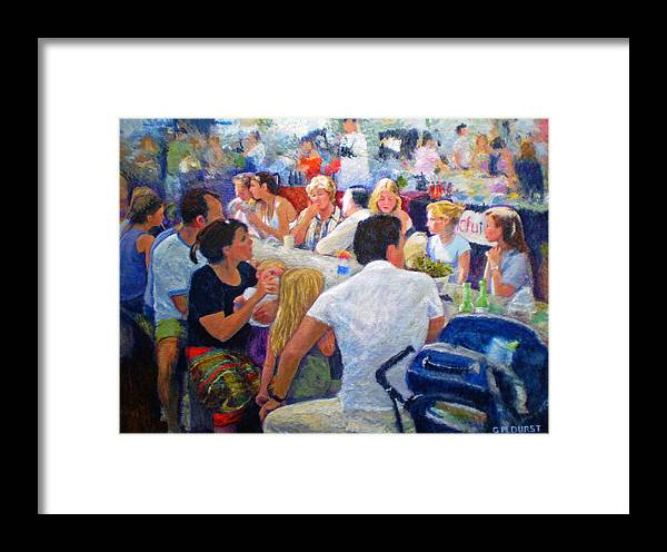 Family Framed Print featuring the painting Lunch At The O.b.m. by Michael Durst