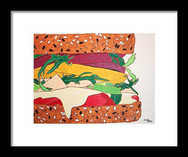 Food Framed Print featuring the painting Lunch Time by Gigi Croom
