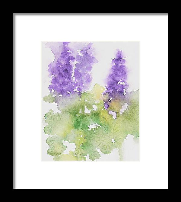 Framed Print featuring the painting Lupine by Mary Levingston