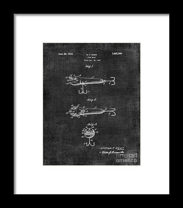 Lures Framed Print featuring the digital art Lures Eger Patent 036 by Voros Edit