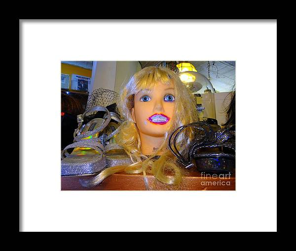 Mannequins Framed Print featuring the photograph Luscious Lips by Ed Weidman