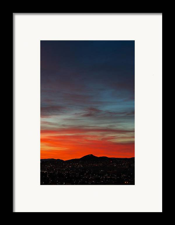 Sunset Framed Print featuring the photograph M On Fire by Kevin Bone