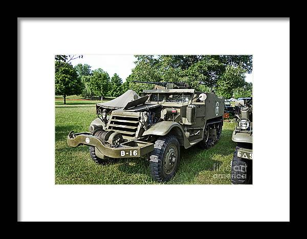 Half-track M3 Framed Print featuring the photograph M3 Half-track by Paul Mashburn