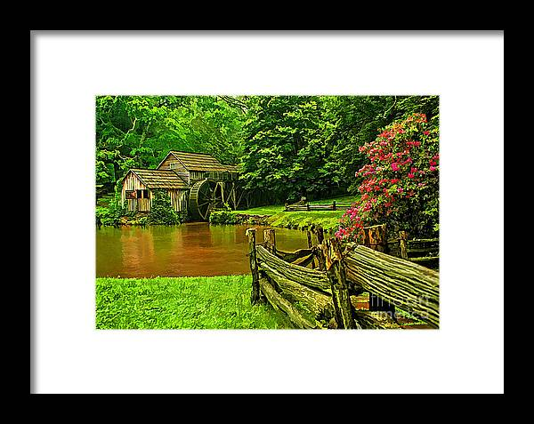 Architecture Framed Print featuring the photograph Mabrys Mill by Darren Fisher