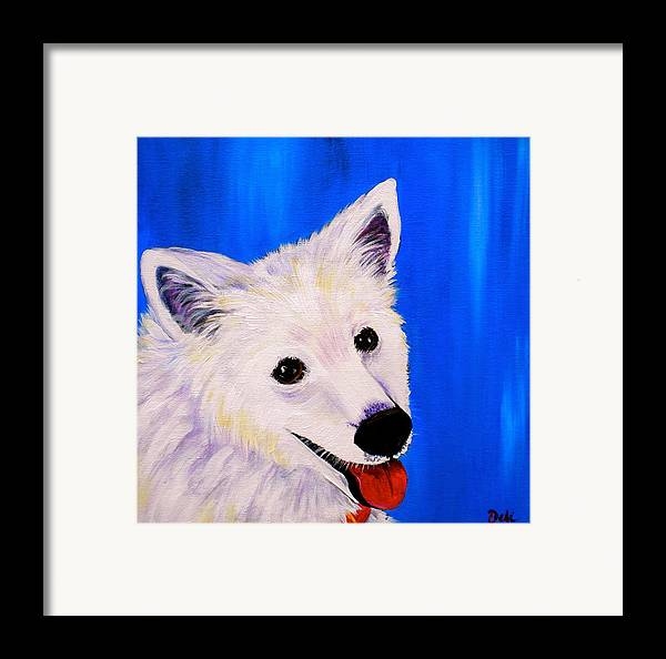 Dog Paintings Framed Print featuring the painting Mac by Debi Starr