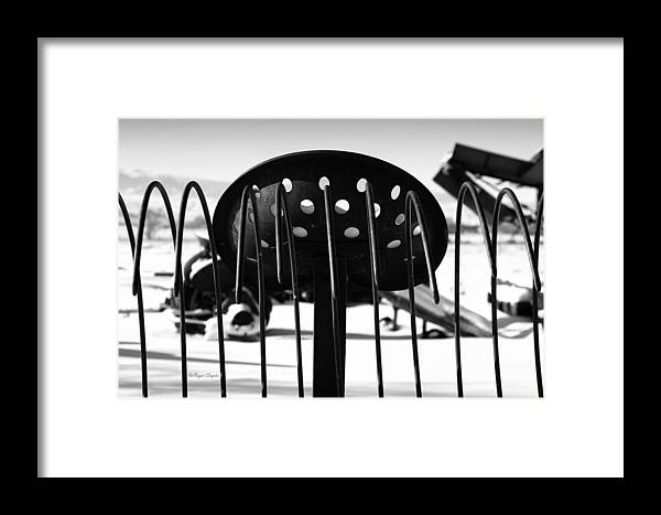 Ique Framed Print featuring the photograph Machine Seat 1 by Roger Snyder