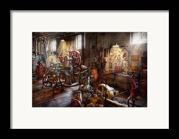 Machinist Framed Print featuring the photograph Machinist - A Room Full Of Memories by Mike Savad