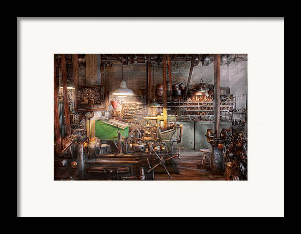 Machinist Framed Print featuring the photograph Machinist - It All Starts With A Journeyman by Mike Savad