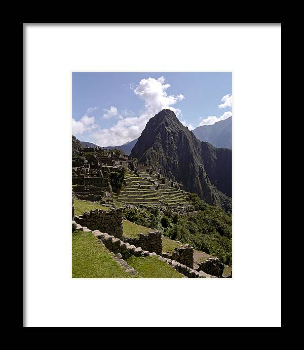 Inca Framed Print featuring the photograph Machu Picchu by Jared Bendis