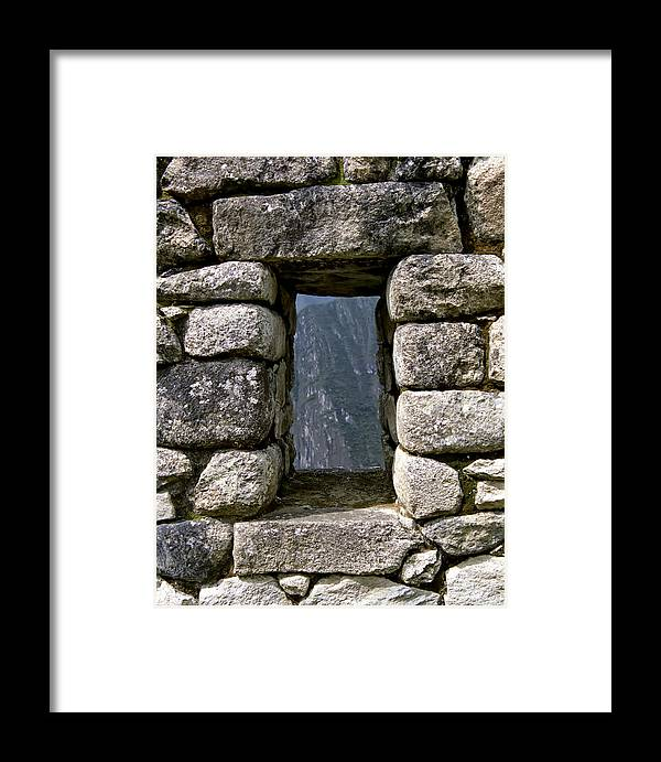 Inca Framed Print featuring the photograph Machu Picchu Window by Jared Bendis