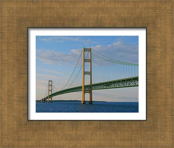 Mackinac Bridge in the Setting Sunlight by Keith Stokes