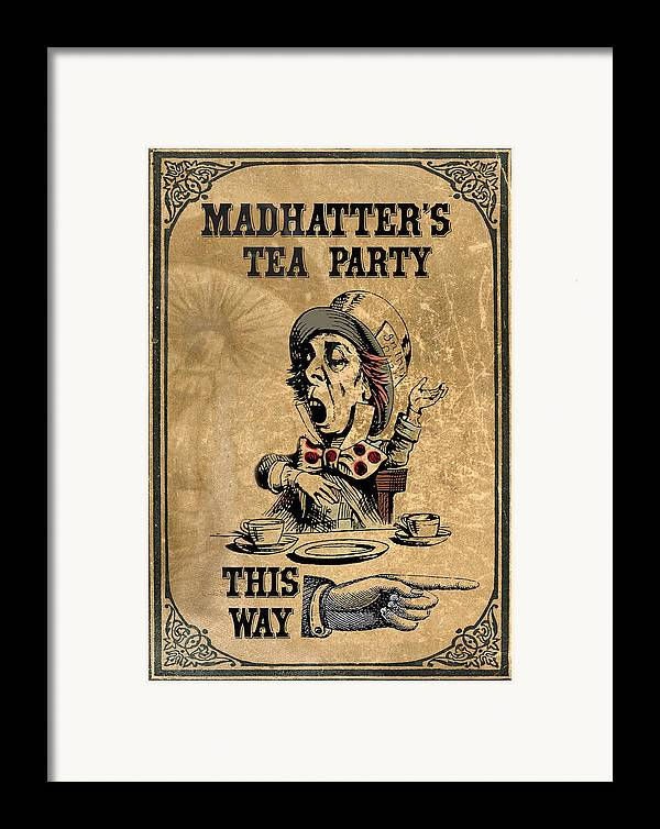 Mad Hatter Framed Print featuring the digital art Mad Hatters Tea Party by Greg Sharpe
