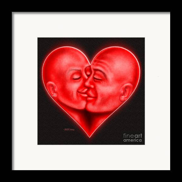 Heart Framed Print featuring the digital art Mad Love by Cristophers Dream Artistry