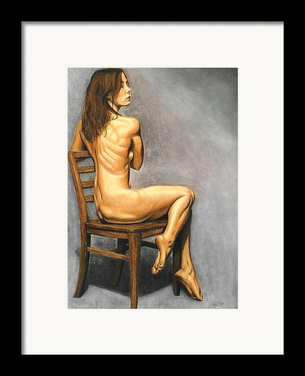 Joe Ogle Framed Print featuring the pastel Madame Brooke by Joseph Ogle