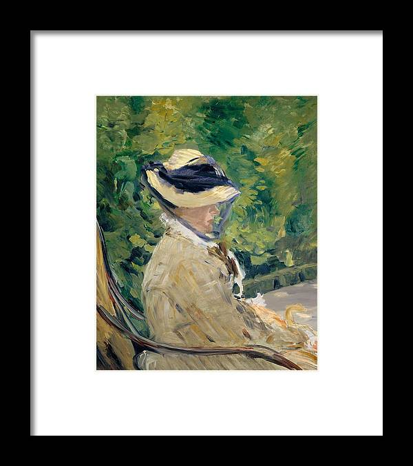 1880 Framed Print featuring the painting Madame Manet At Bellevue by Edouard Manet