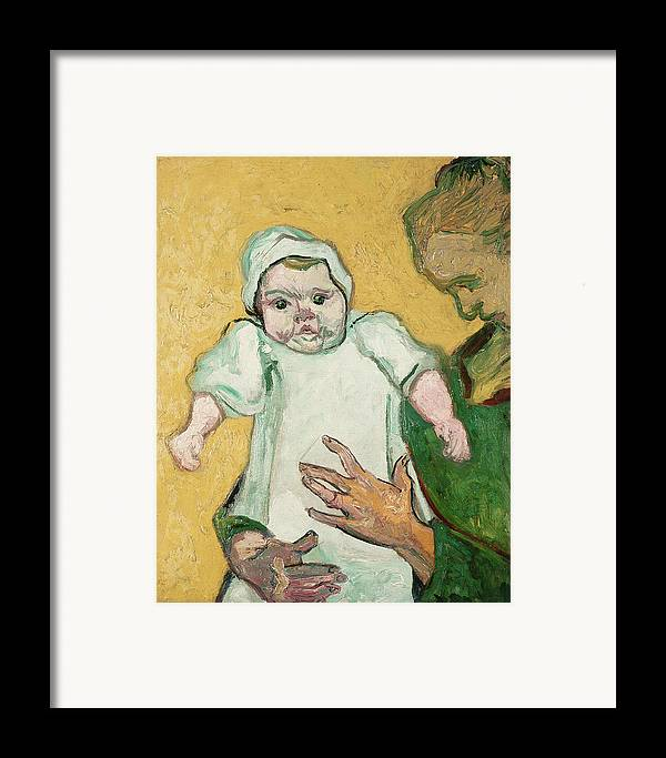 Child Framed Print featuring the painting Madame Roulin And Her Baby by Vincent Van Gogh
