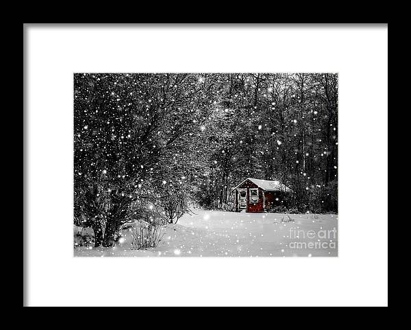Winter Framed Print featuring the photograph Made in Maine Winter by Brenda Giasson