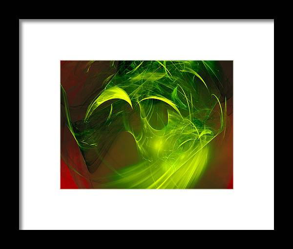Abstract Framed Print featuring the digital art Made Of Glue by Jeff Iverson