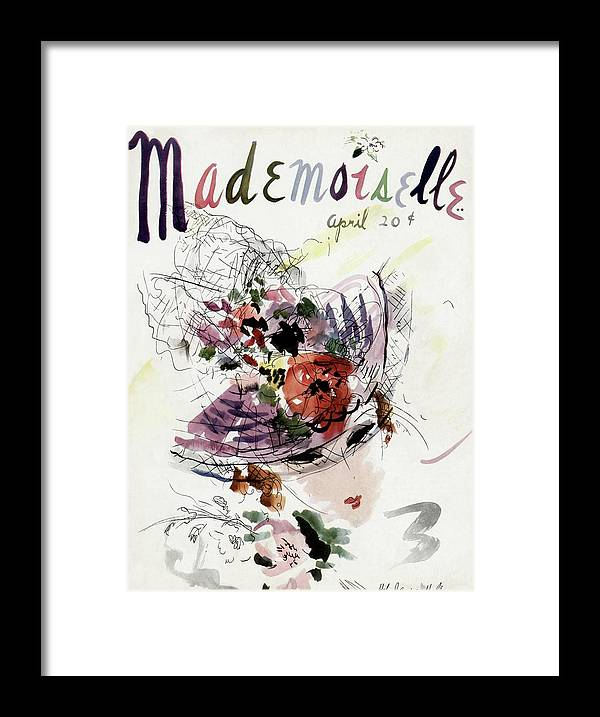 Fashion Framed Print featuring the photograph Mademoiselle Cover Featuring An Illustration by Helen Jameson Hall