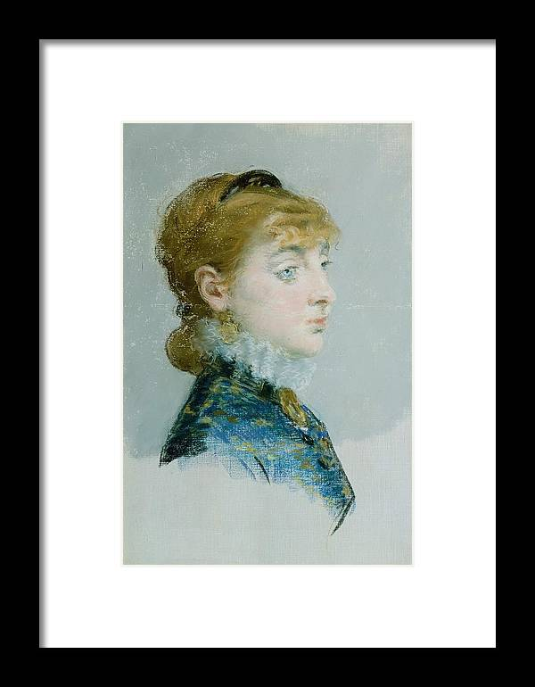 1879 Framed Print featuring the painting Mademoiselle Lucie Delabigne by Edouard Manet