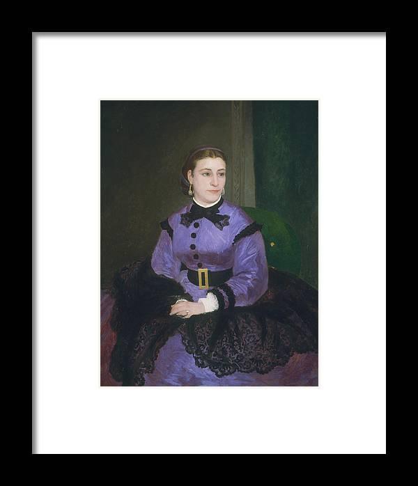Auguste Renoir Framed Print featuring the painting Mademoiselle Sicot by Auguste Renoir