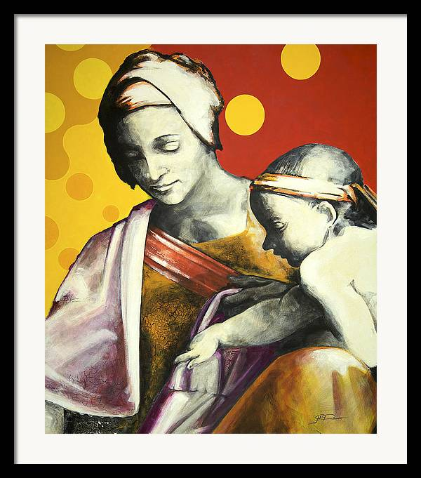 Figurative Framed Print featuring the painting Madona by Jean Pierre Rousselet