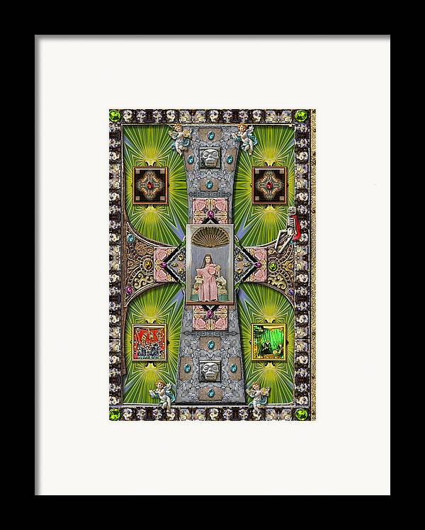 Madonna Framed Print featuring the digital art Madonna Of Valladolid Mexico by Ron Morecraft