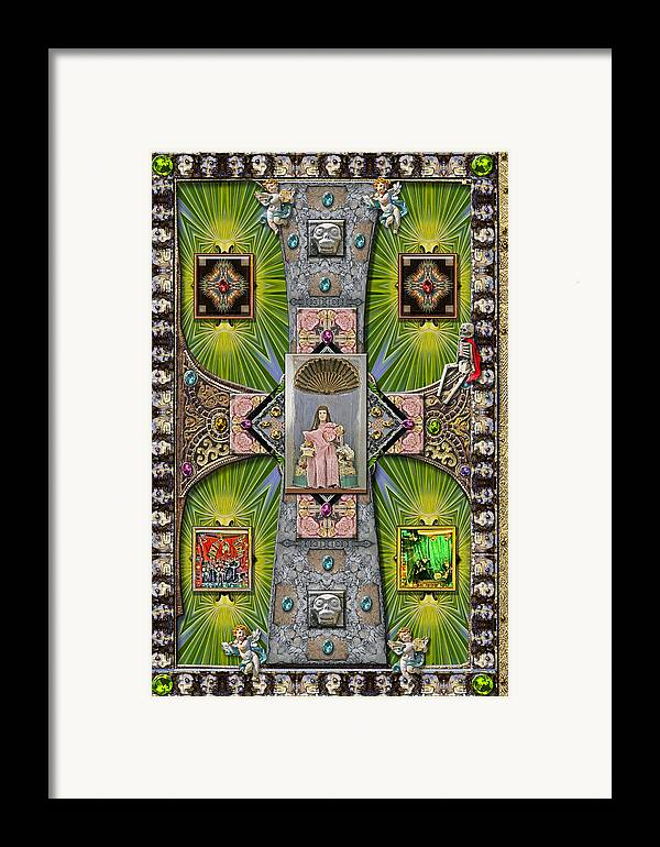 Madonna Framed Print featuring the pyrography Madonna Of Valladolid Mexico by Ron Morecraft