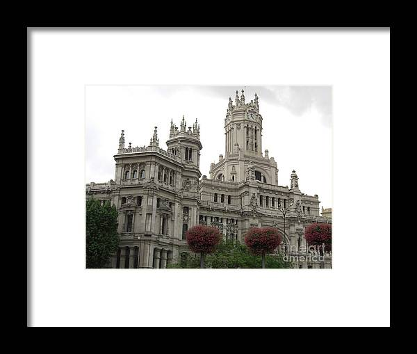 Madrid Framed Print featuring the photograph Madrid City Hall by Deborah Smolinske