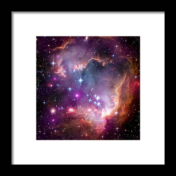 Universe Framed Print featuring the photograph Magellanic Cloud 3 by Jennifer Rondinelli Reilly - Fine Art Photography