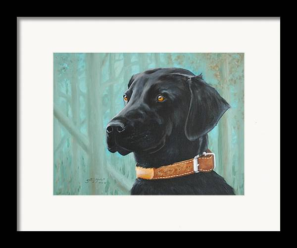 Dog Framed Print featuring the painting Maggie by Scott Alcorn