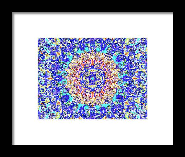 Abstract Framed Print featuring the photograph Magic Carpet Ride Blue by Annette Allman