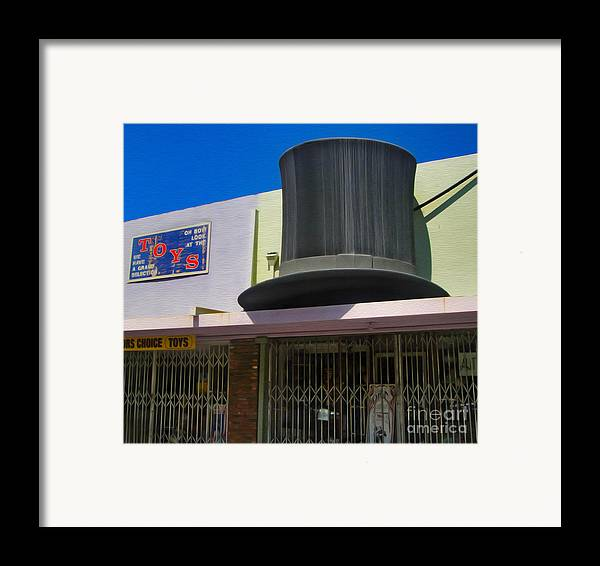 Magic Hat Framed Print featuring the photograph Magic Hat Toy Shop by Gregory Dyer