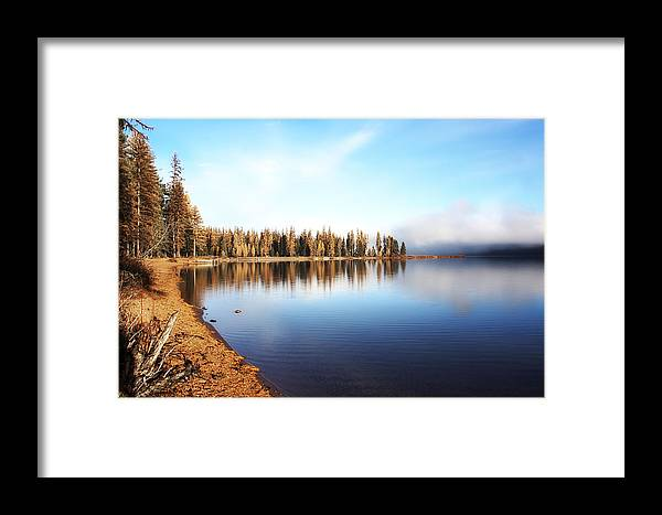 Seeley Lake Framed Print featuring the photograph Magic On Seeley Lake by Janie Johnson