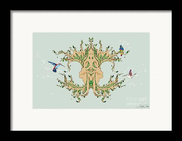 Art Framed Print featuring the digital art Magic Tree by Disko Galerie
