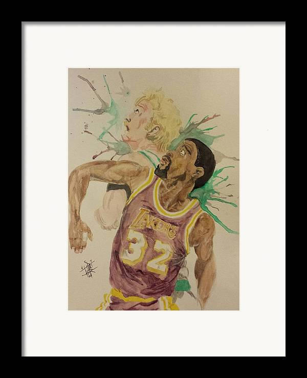 Magic Johnson Framed Print featuring the painting Magicbird by DMo Herr
