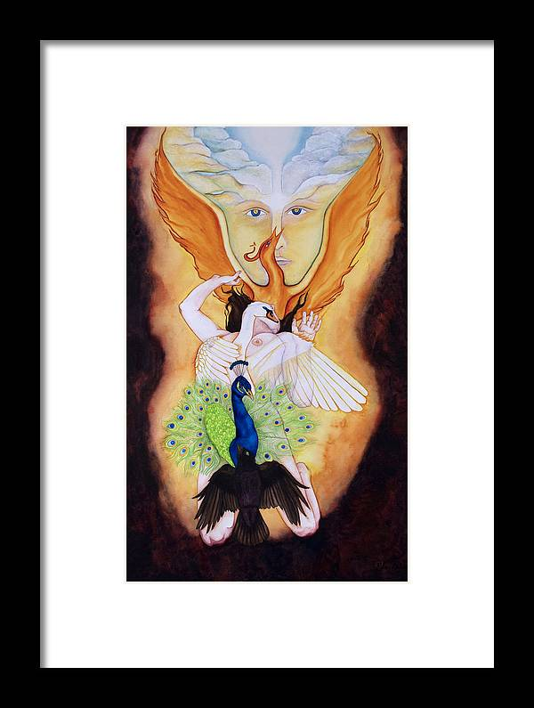 Spiritual Alchemy Framed Print featuring the painting Magnum Opus An Allegory Of Spiritual Alchemy by Rebecca Barham