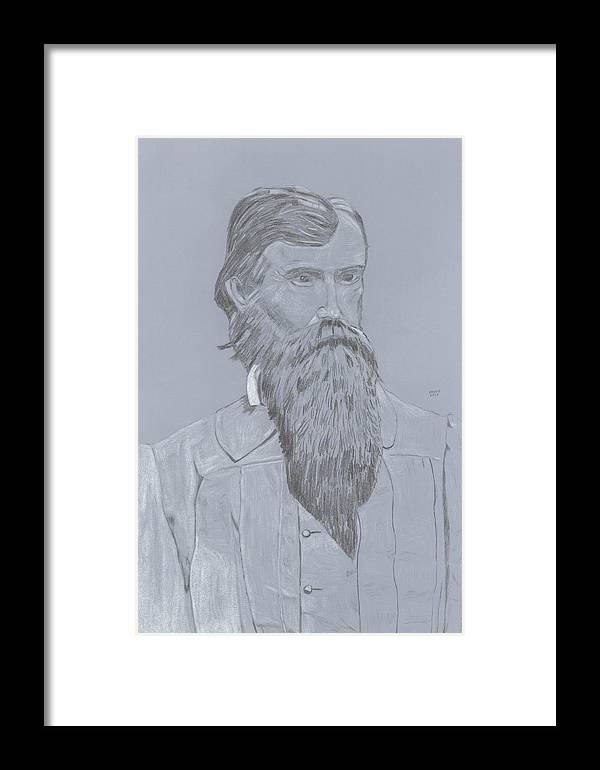 Mahone Framed Print featuring the drawing Mahone by Dennis Larson