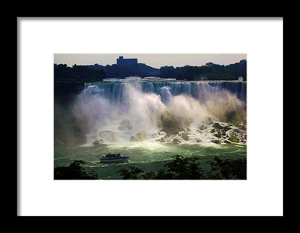 Maid Of The Mist Framed Print featuring the photograph Maid Of The Mist by Bob Pardue